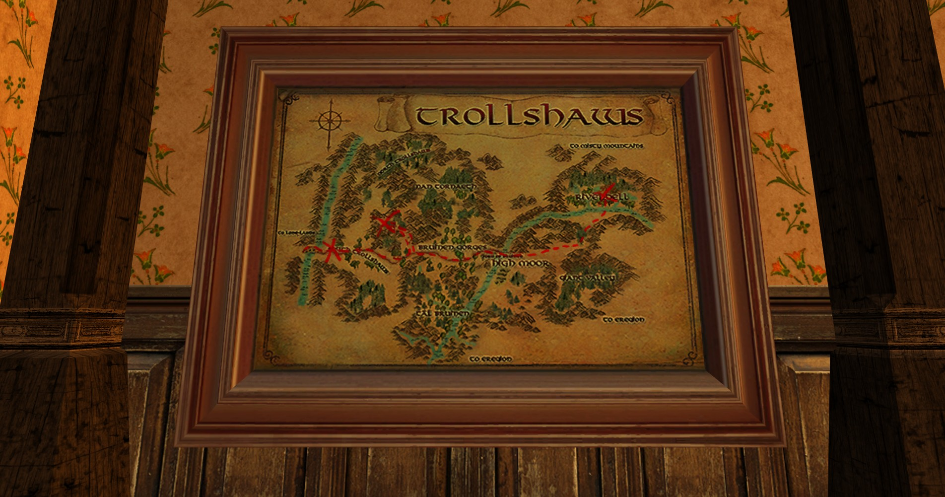 Large Map of Bingo in the Trollshaws