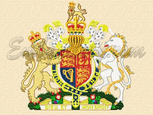 Quot United Kingdom Coat Of Arms Quot Machine Embroidery Design