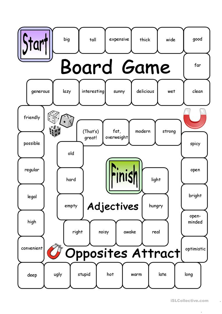 Adjectives And Superlative Game Comparative