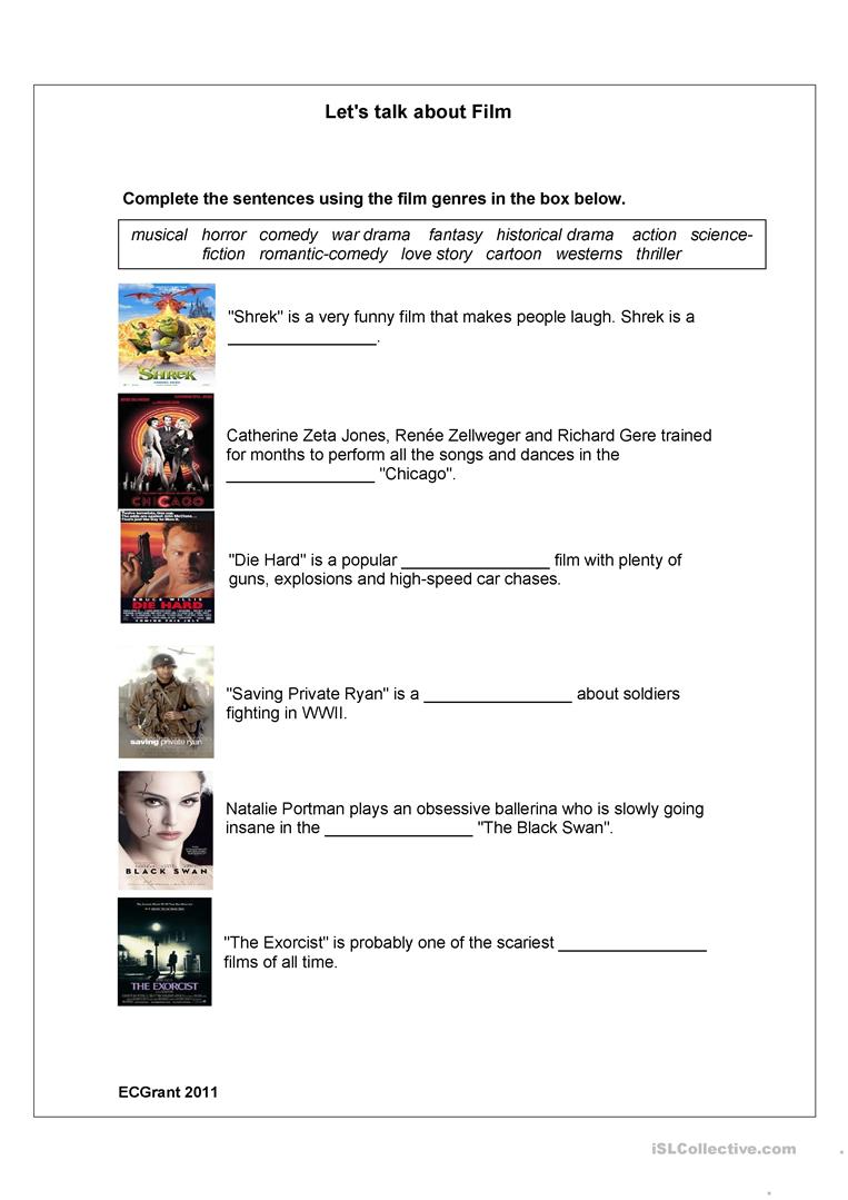 Subjects :: English :: The Horror Genre - An Introduction Worksheet