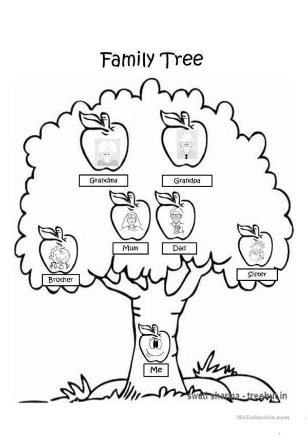family tree coloring page # 2