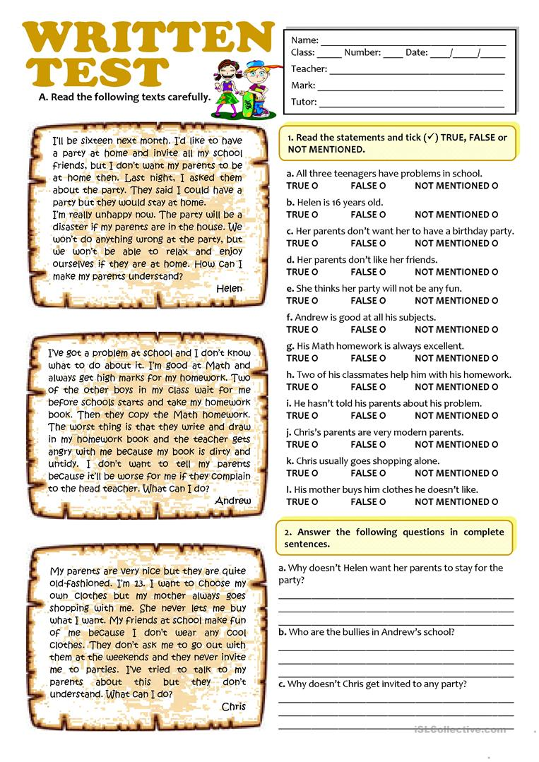 Impulse Control Worksheets Teenagers