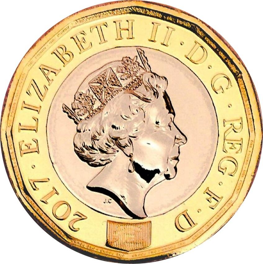 1 Pound Elizabeth Ii 5th Portrait Nations Of The Crown