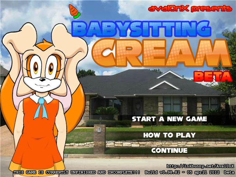 Babysitting Cream   WikiFur  the furry encyclopedia Opening screen of the game