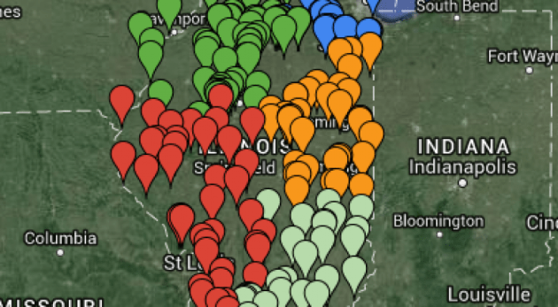 Illinois Public Hunting Areas and Land Map Illinois Public Hunting Areas Map