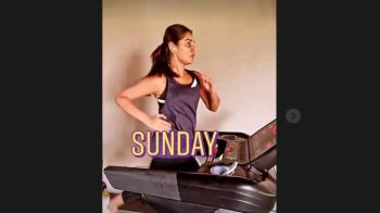 Jasprit Bumrah's wife Sanjana Ganesan sweat it out in health club, pacer shares Instagram story, see pics