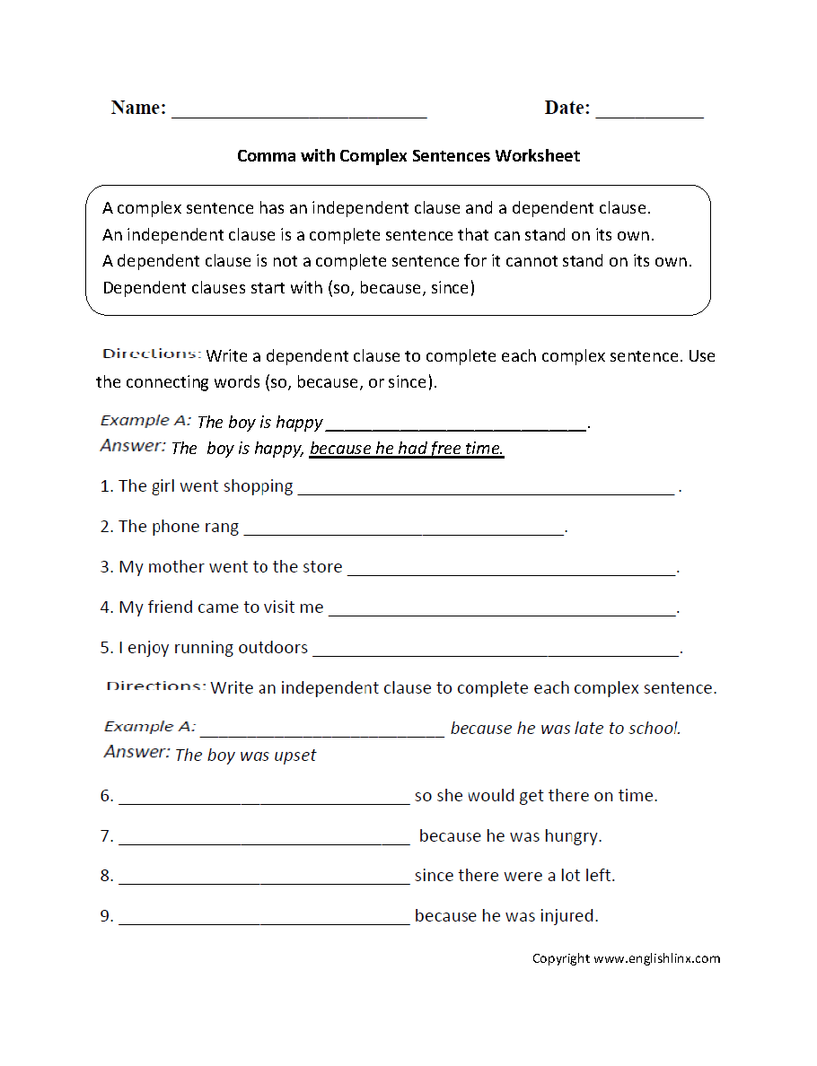 Sentence Structure Worksheets 5th Grade