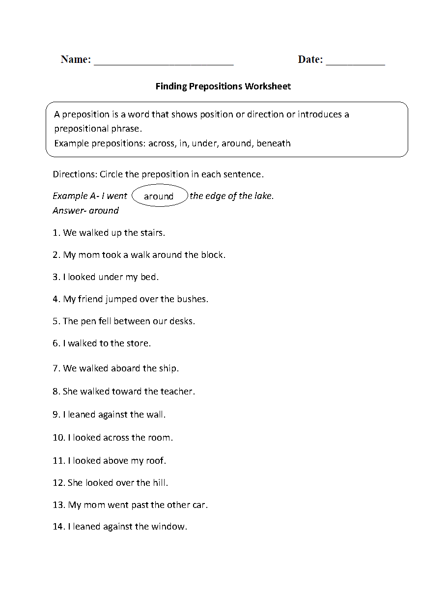 Worksheets Freak The Mighty Worksheets preposition practice worksheets free library download p rts of sentence w ksheets prepositi l phr se ksheets