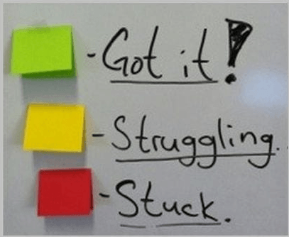 using sticky notes in english class for feedback
