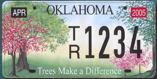 Oklahoma License Plate Sticker 2016