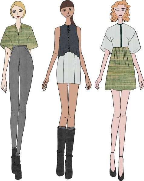 Graphic Illustration     celine thibault Developing vector based graphics from hand drawn sketches in the form of fashion  croquis