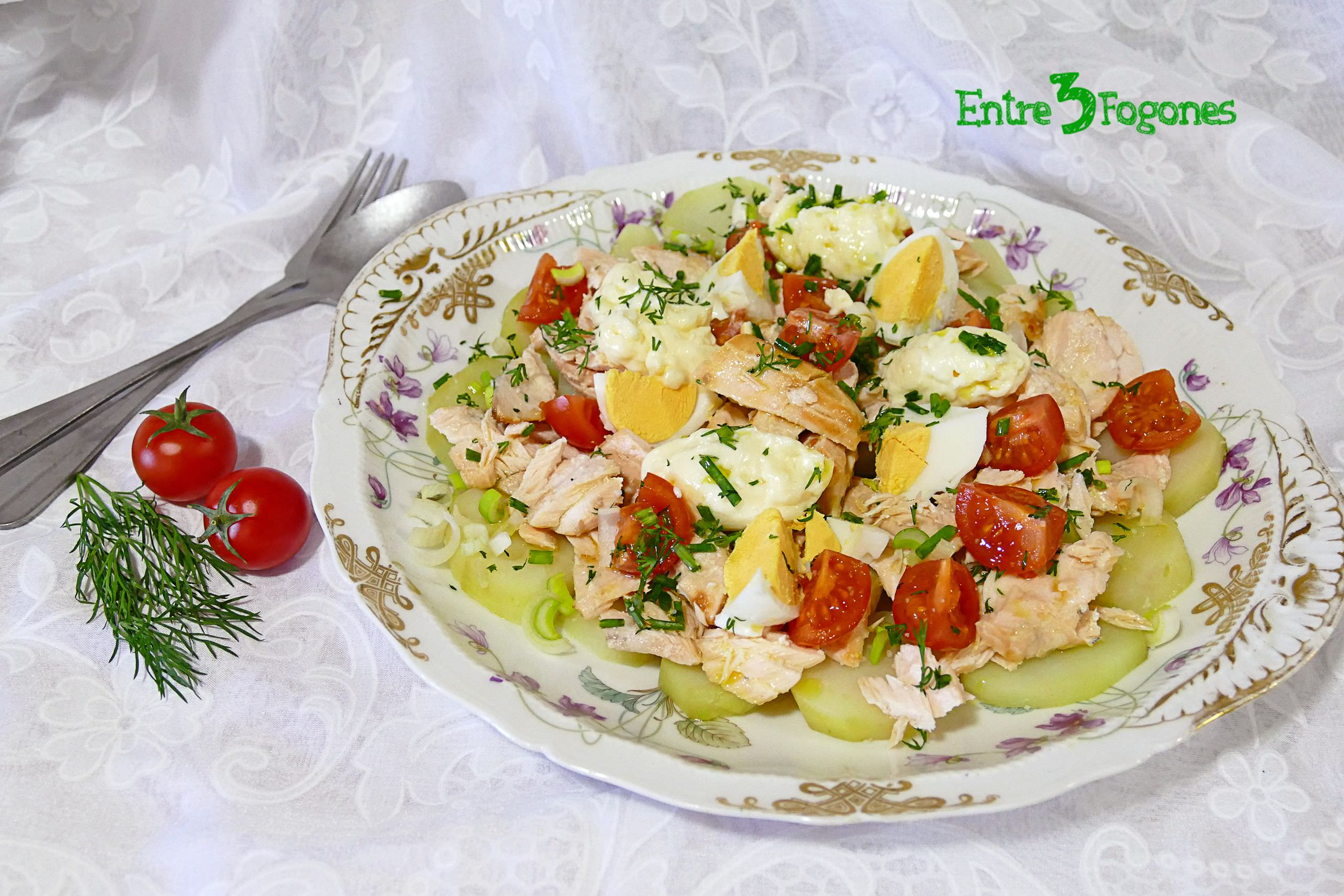 Photo of Ensalada de Patata con Salmón
