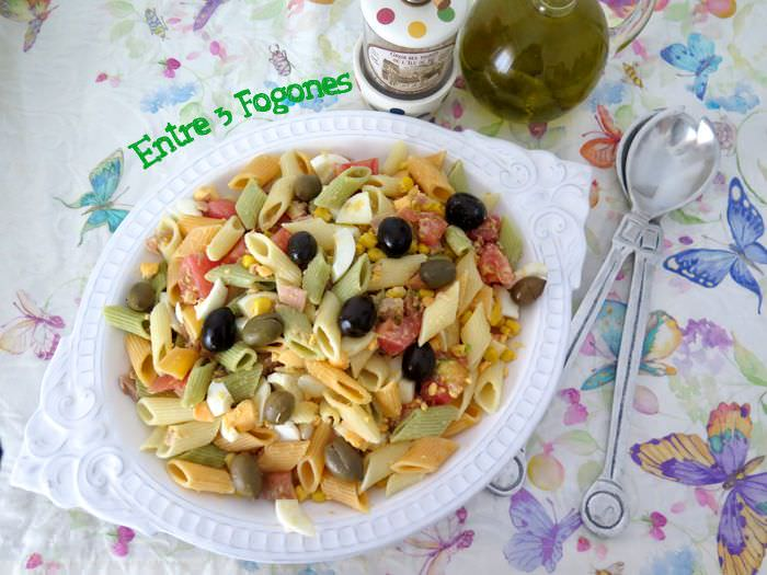 Photo of Ensalada de Pasta con Atún y Huevo Duro