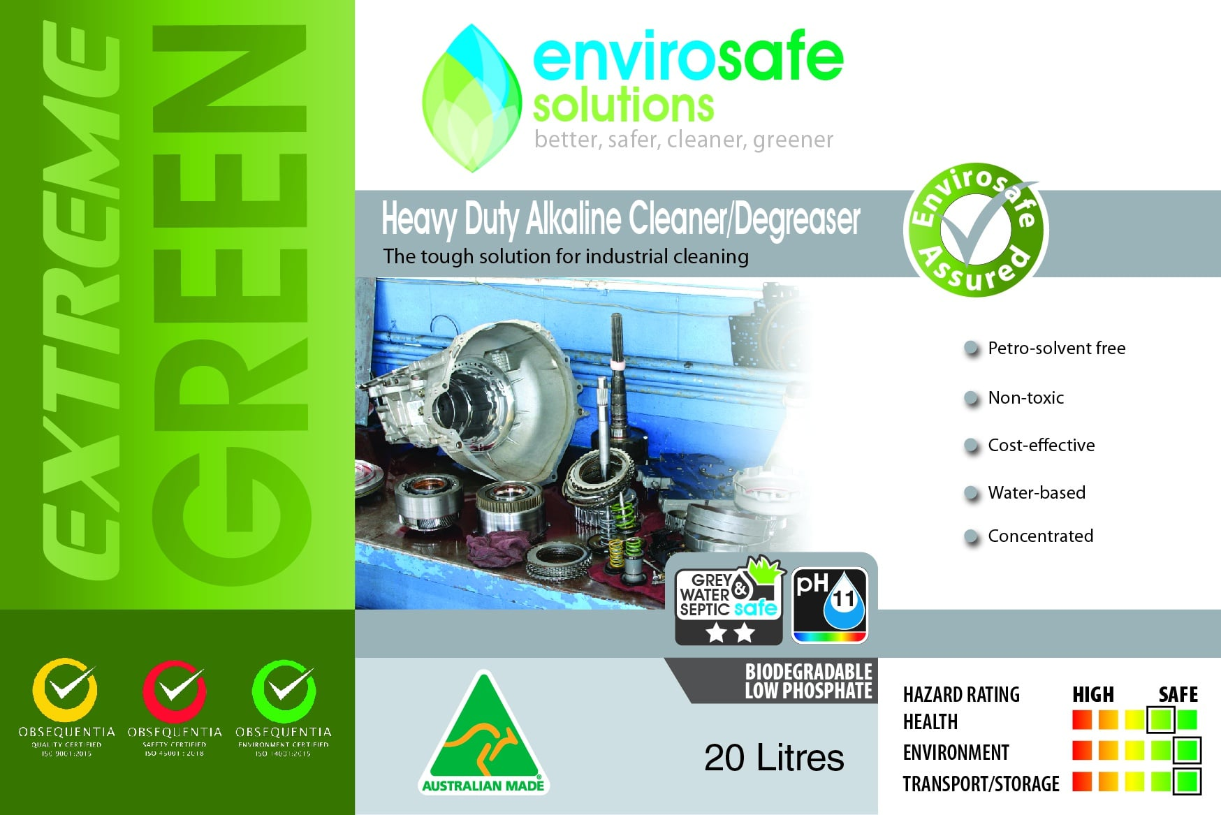 Heavy Duty Alkaline Cleaner Degreaser Label