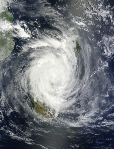 Tropical Cyclone Giovanna : Natural Hazards
