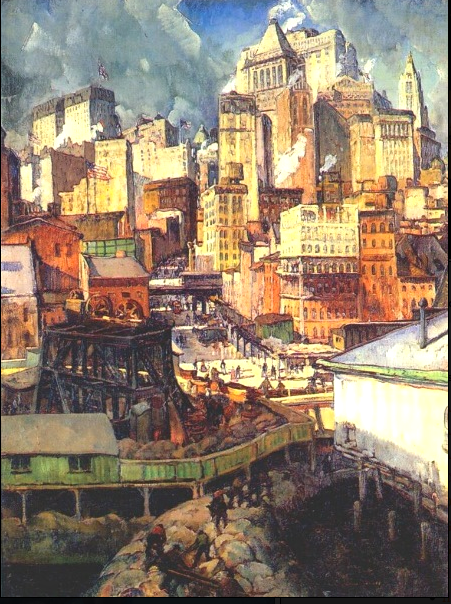 East River NYC paintings   Ephemeral New York     was known for his nudes and country or seaside landscapes  and he also  painted Central Park  Broadway  and other city locations