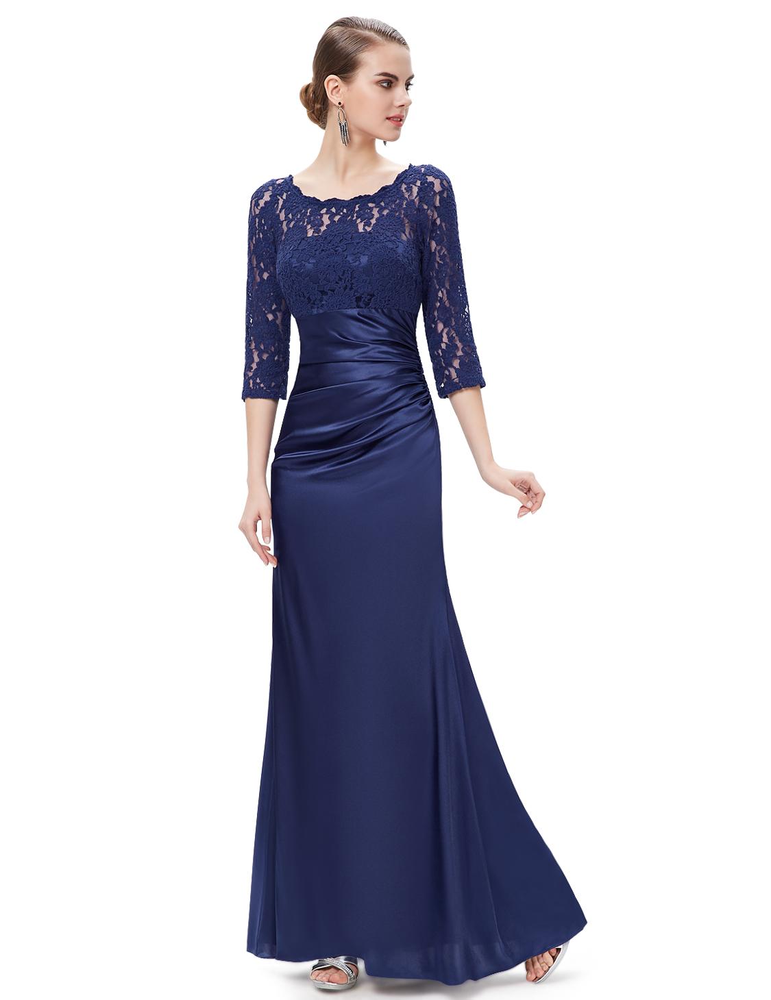 Sleeve 4 3 Gown Ball Empire Evening