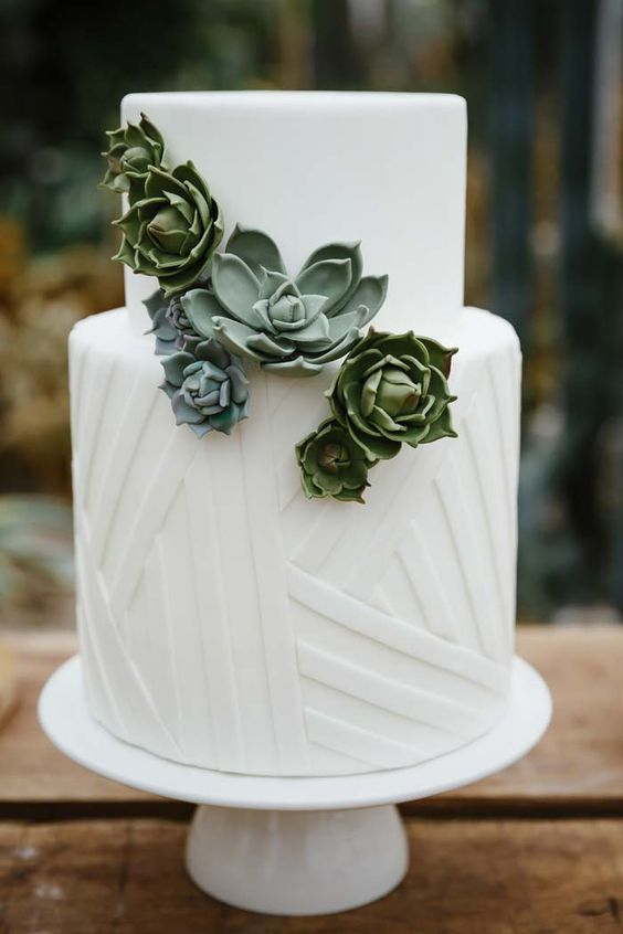Succulent wedding cake   Equally Wed  modern LGBTQ  weddings       Succulent wedding cake