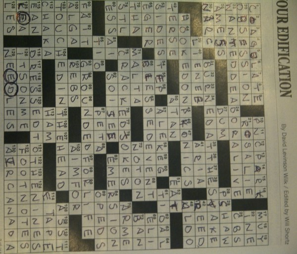 Eric   Abbie Fix the New York Times Crossword   Because sometimes     For Your Edification  03 06 2011