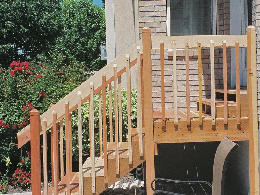 Front Porch Stair Railing Designs • Porches Ideas | Front Porch Stair Railing | Single Step | Outdoor | Rail | Pressure Treated | White