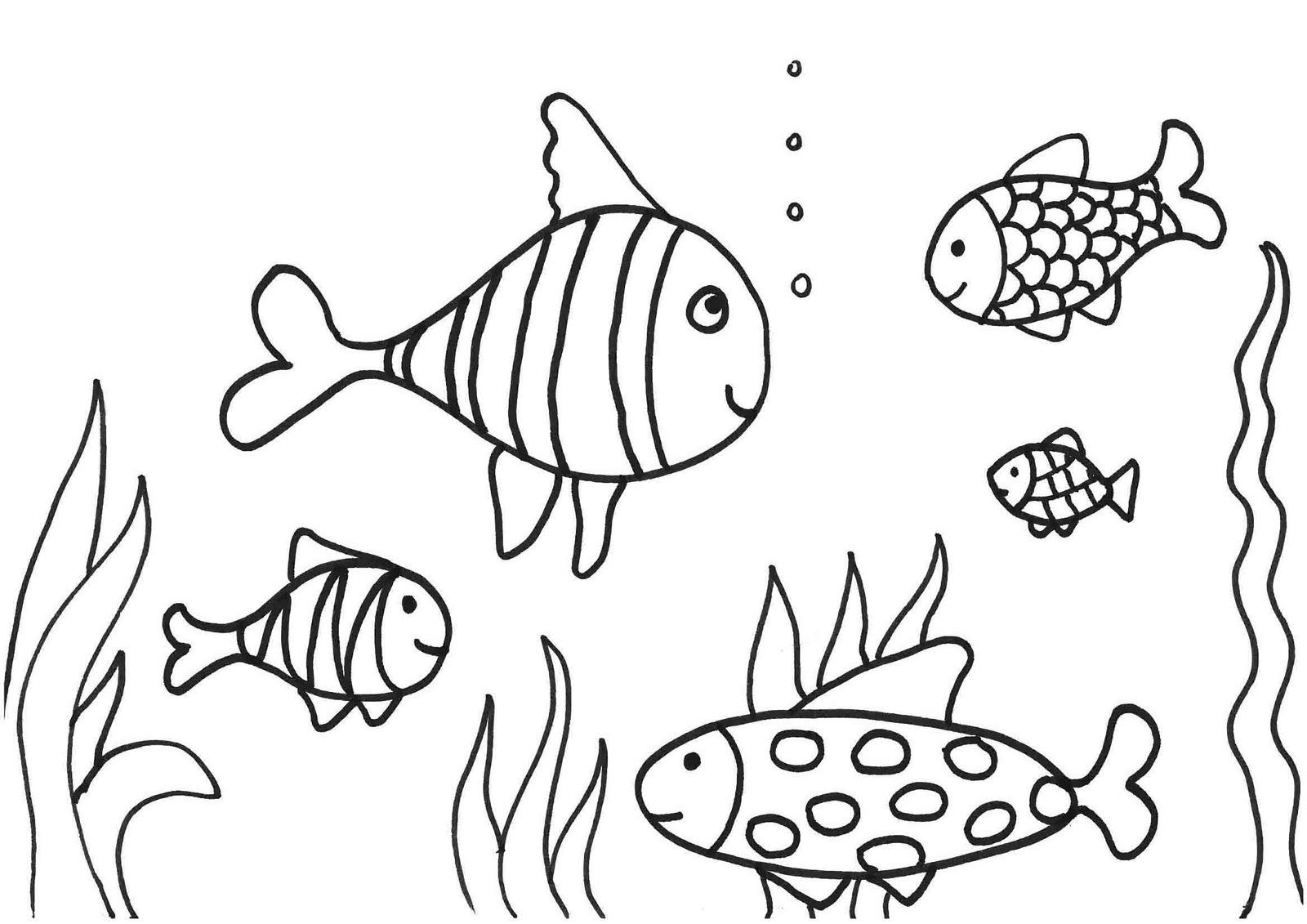Para De Pintar Dibujos Pescados