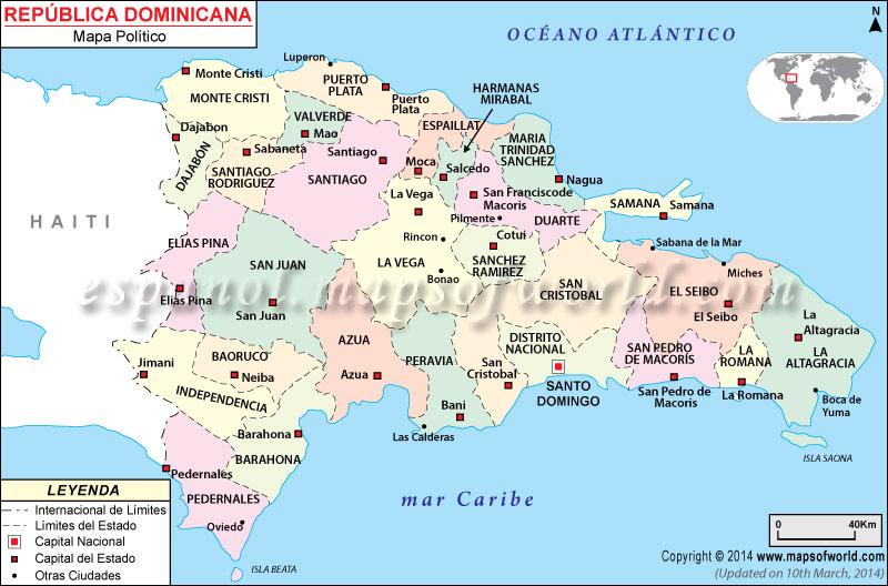 De Mapa En Dominicana Puertos Republica La