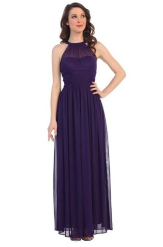 Under  150 Estelle s Dressy Dresses in Farmingdale   NY Beaded Halter Neck Long Gown