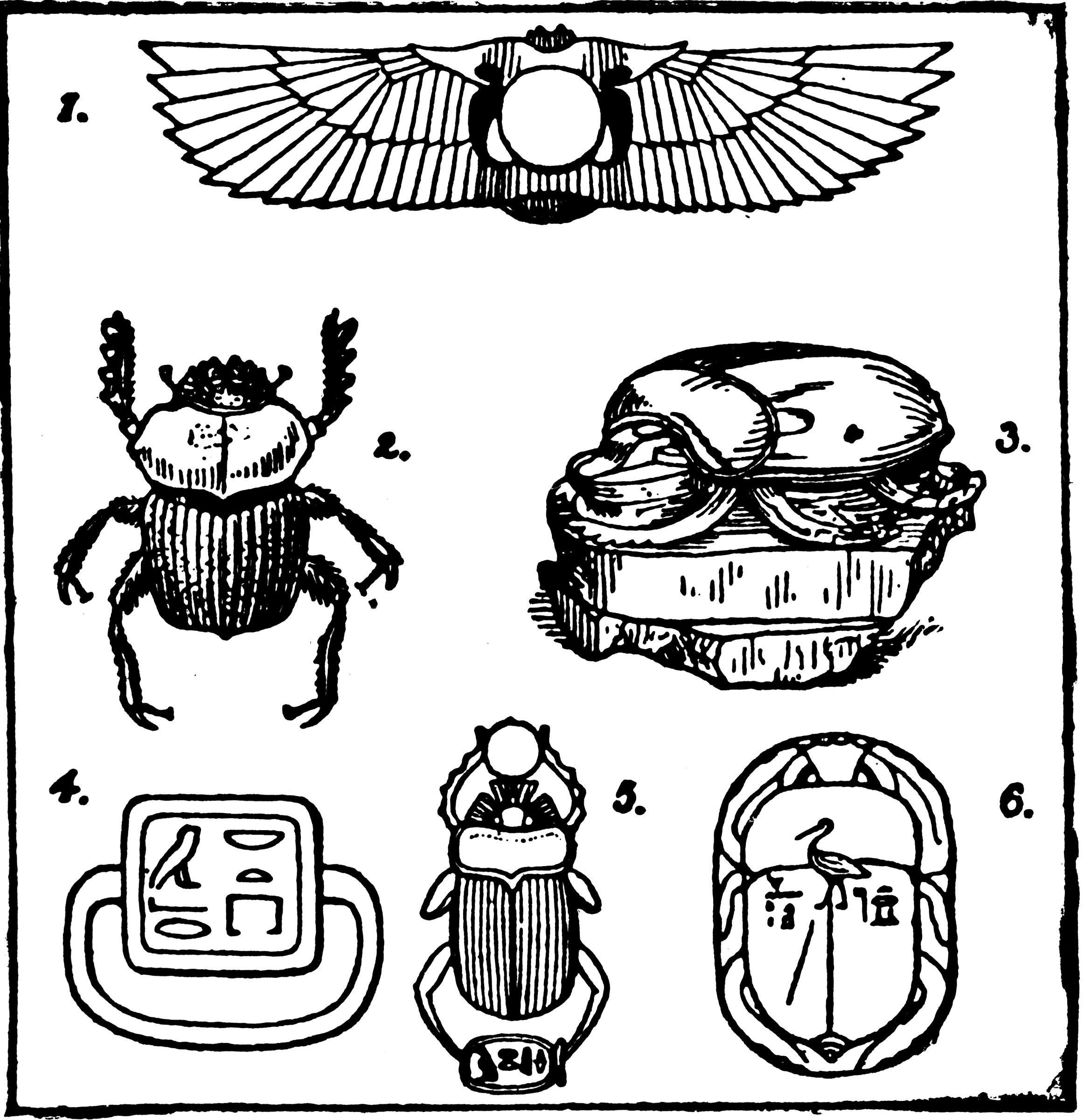 Egyptian Scarabs Clipart Etc