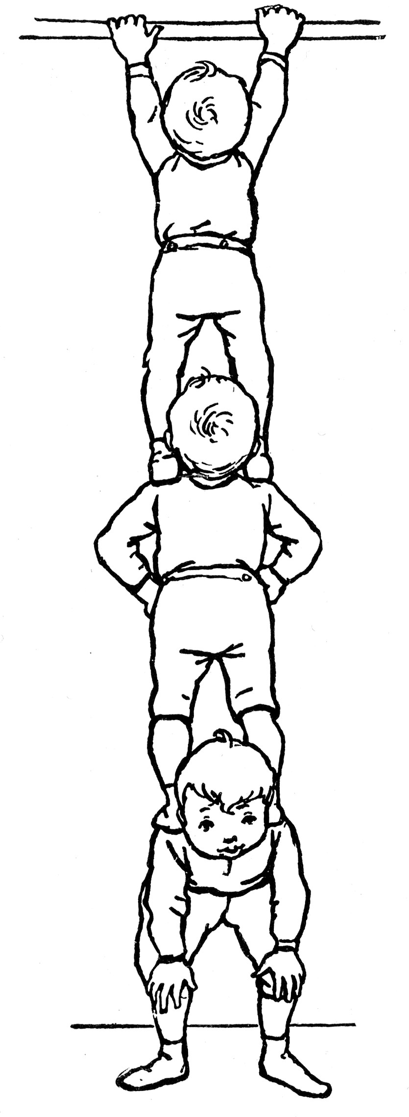 Boys Standing On Shoulders Clipart Etc