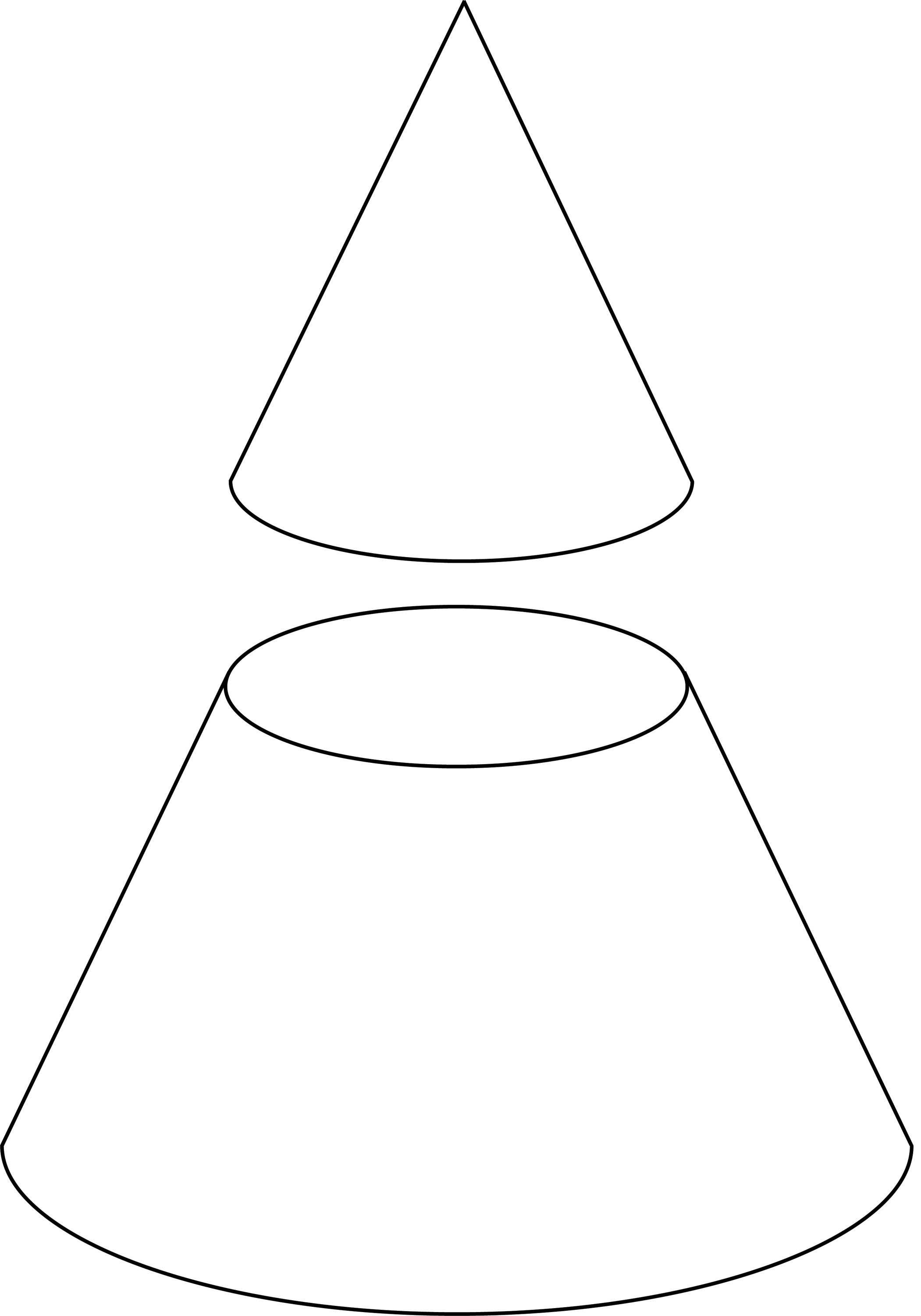 Cone Cut By Plane Clipart Etc