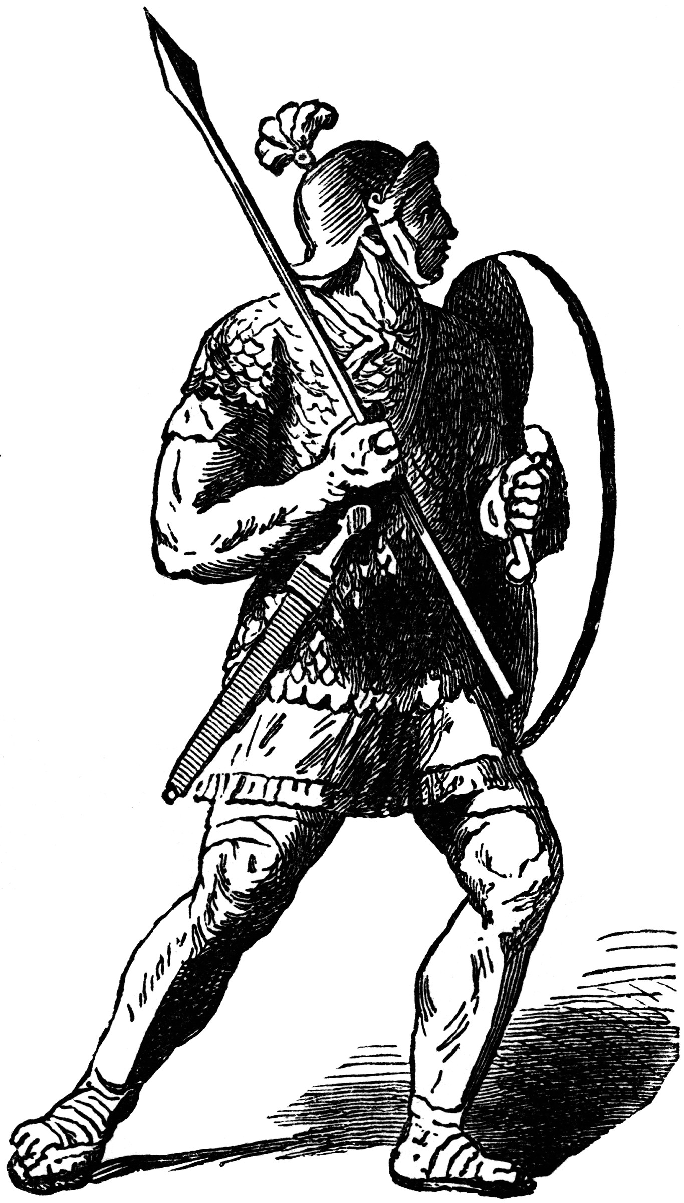 A Roman Soldier Or Legionary With A Short Javelin And