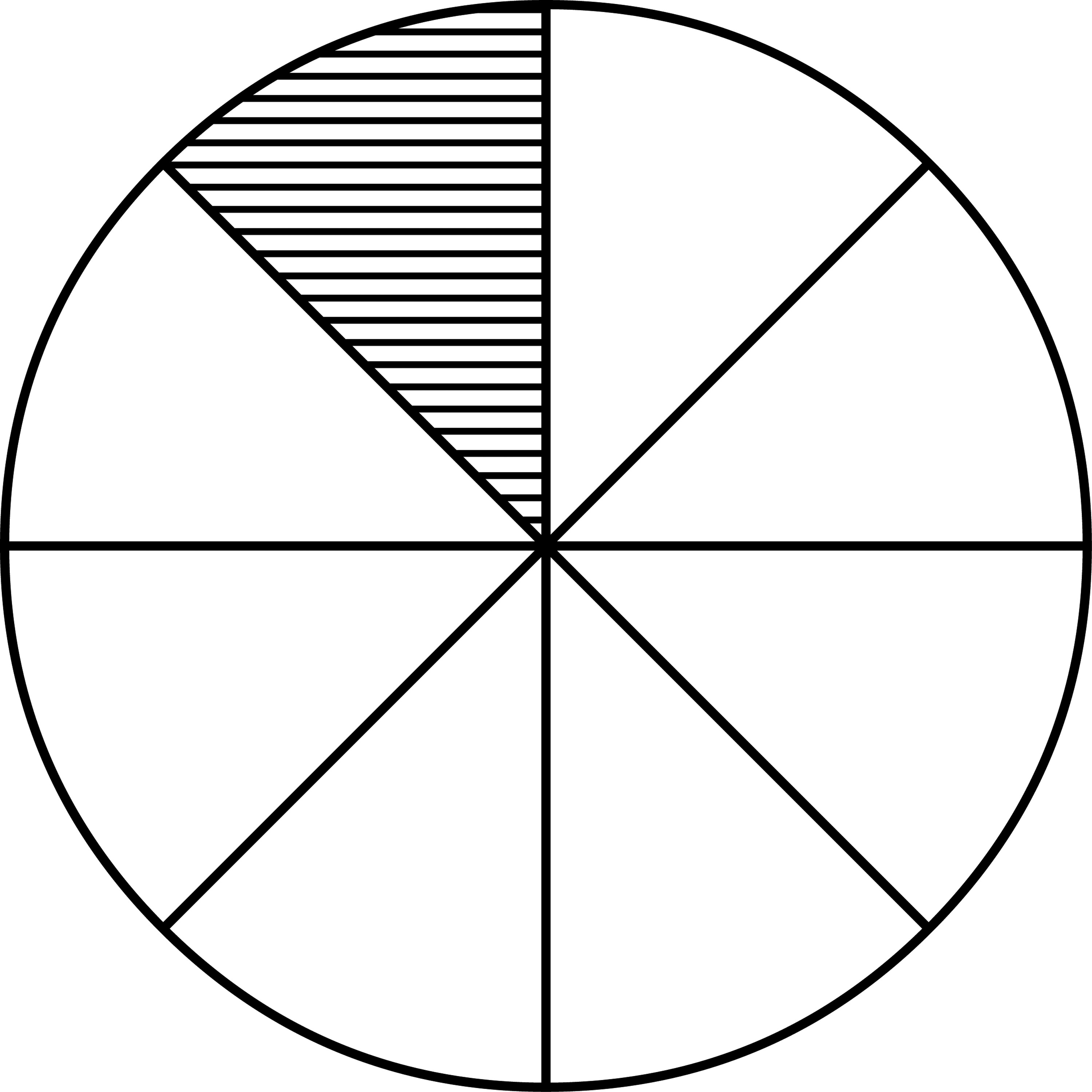 Fraction Pie Divided Into Eighths Clipart Etc