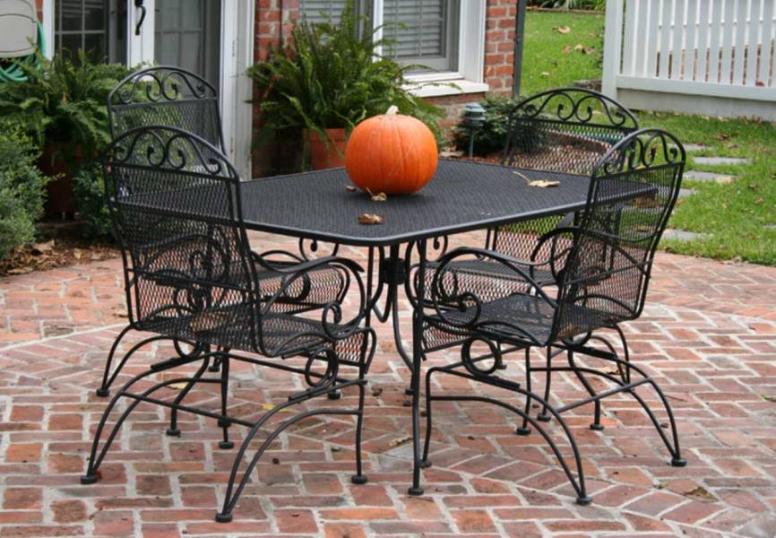 Rectangular Patio Set Table and Four Chairs   EVA Furniture Rectangular Patio Set Table and Four Chairs