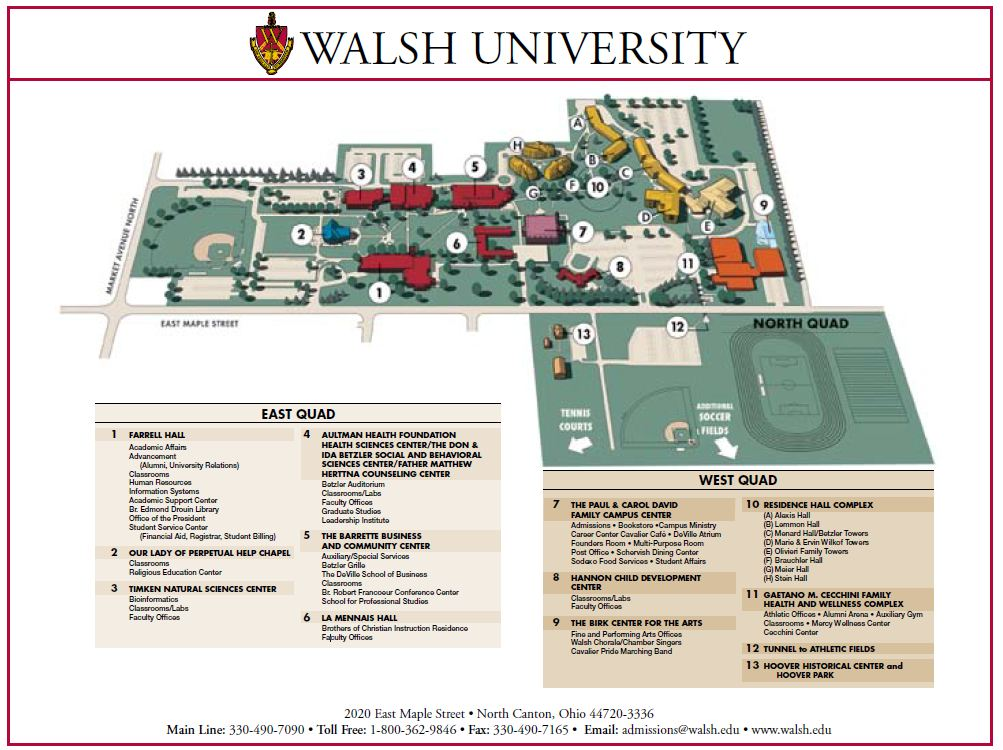 Walsh Campus Map.Hampton University Campus Map