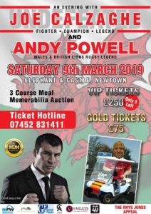 An Evening with Joe Calzaghe and Andy Powell @ Elephant & Castle Hotel