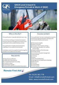Emergency First Aid at Work Forestry Sector + F @ The MAC Abergavenny