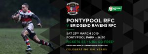 Pontypool RFC V Bridgend Ravens RFC - WRU National Cup Quarter Finals @ Pontypool Park