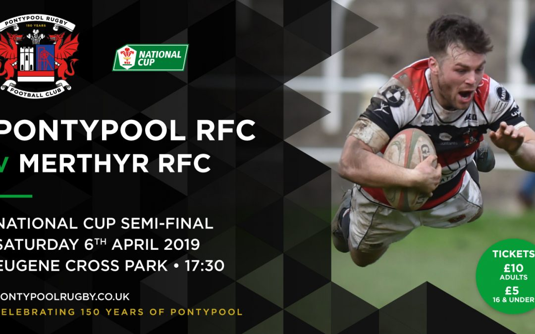 Pontypool RFC V Merthyr RFC – WRU National Cup Semi Final