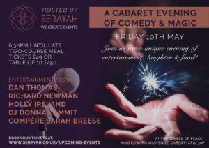 Cabaret Evening of Comedy and Music @ The Temple of Peace