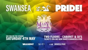 Marys at Swansea Pride @ The Strand back of Walkabout Swansea