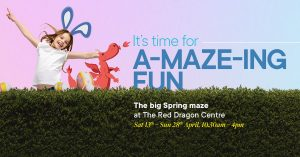 A-maze-ing fun with big Spring Maze at The Red Dragon Centre @ The Red Dragon Centre