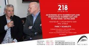Evening with Warren Gatland & Phil Steele @ Parc Y Scarlets