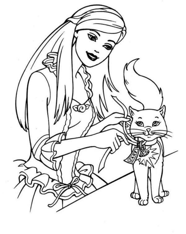 barbie coloring pages free # 6