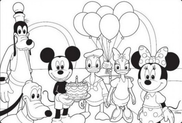 mickey coloring page # 12