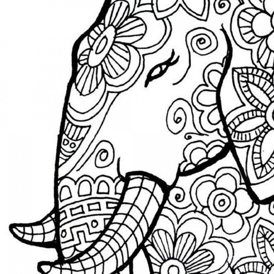 Get This Free Printable Elephant Coloring Pages For Adults Ad54569