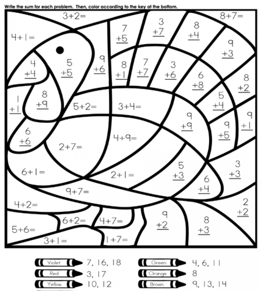 Get This Online Printable Math Coloring Pages Rczoz