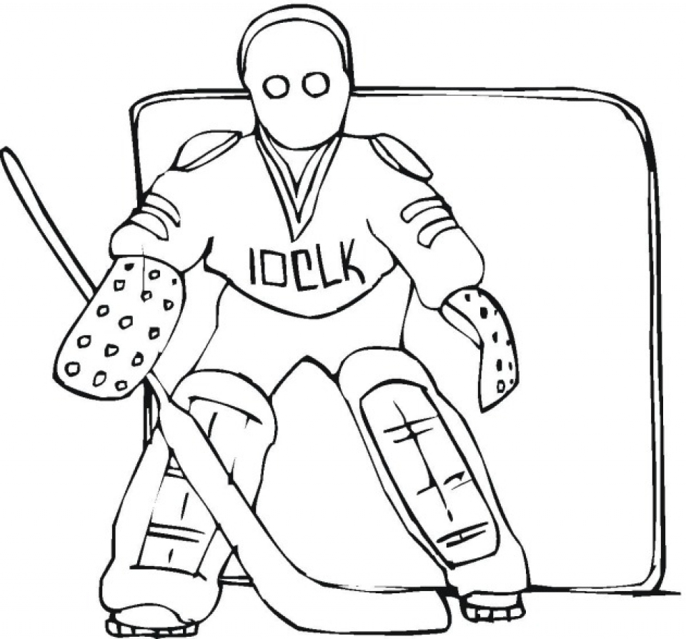 Get This Printable Hockey Coloring Pages Online 59307