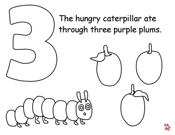 hungry caterpillar coloring pages # 9