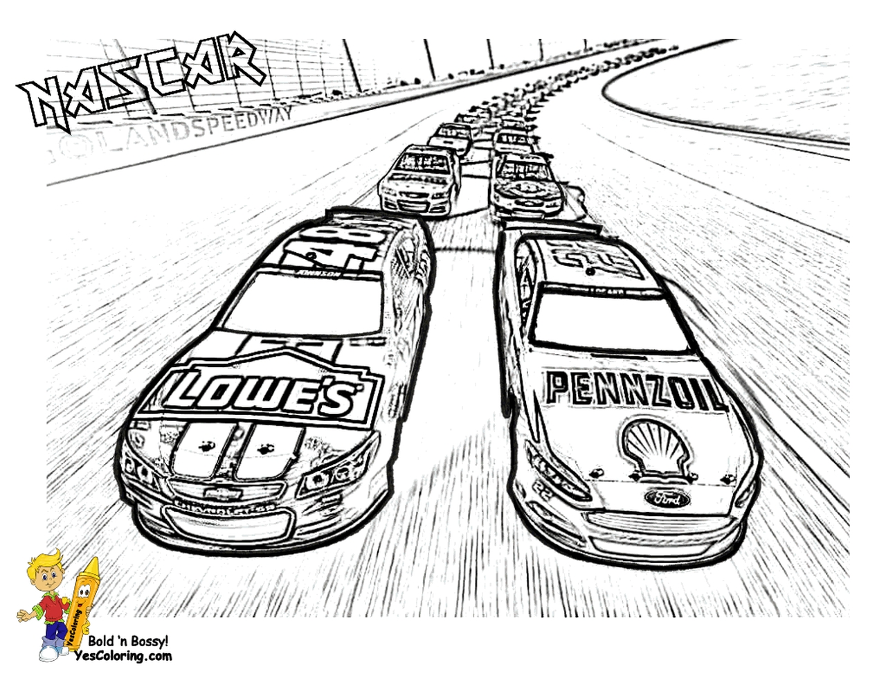 Get This American Nascar Racing Car Coloring Pages For Boys 62917