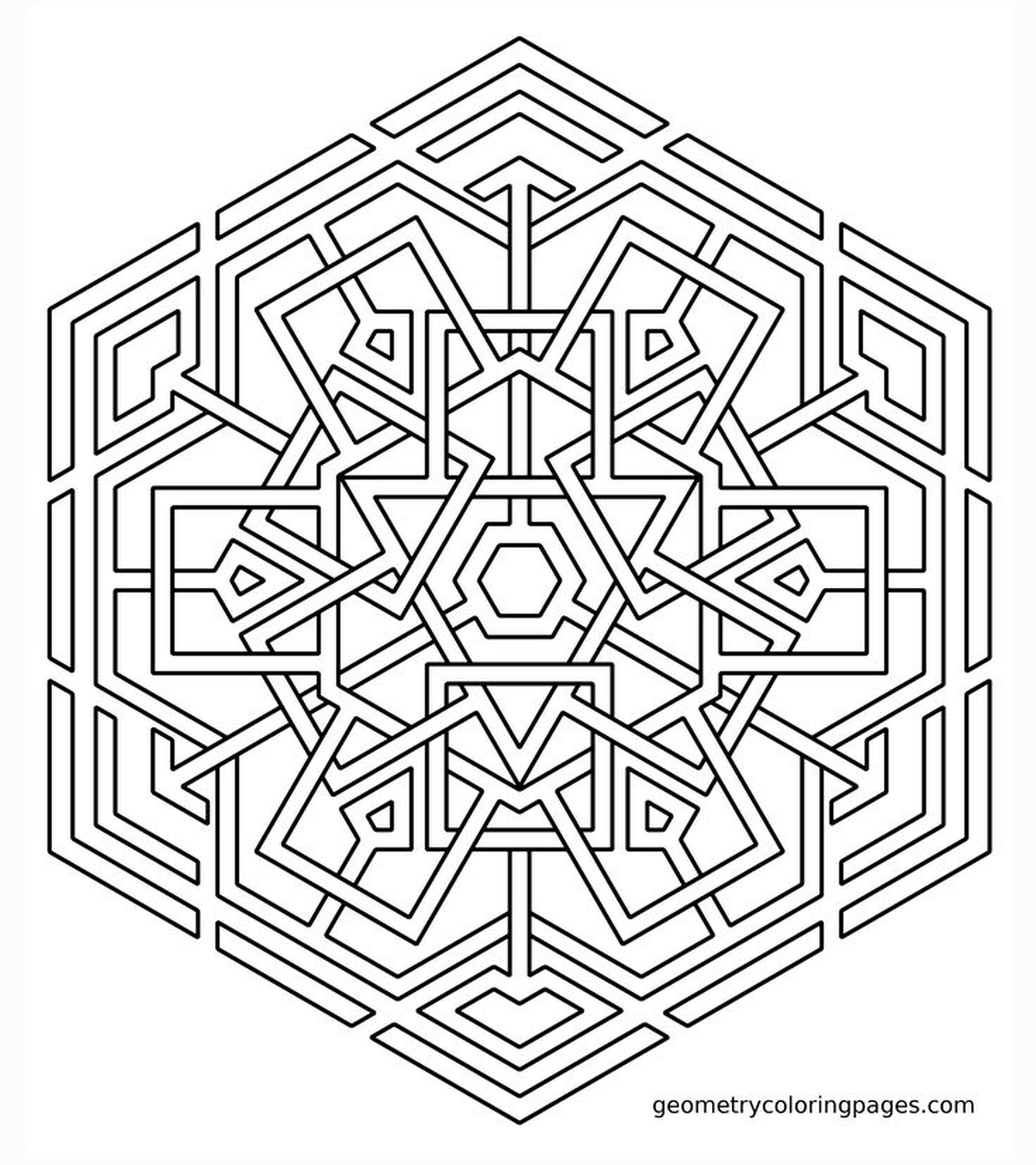 20 Free Printable Geometric Coloring Pages Everfreecoloring
